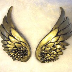 Gold Brass wing hair clip set valkyrie Thor She by SpoiledCherry, $49.00