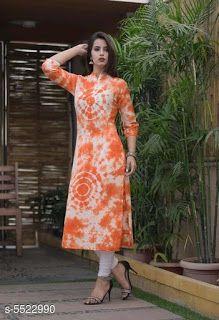 Simple Kurta Designs, Indian Bridal Lehenga, Printed Kurti, Printed Cotton, Kurti Designs Party Wear, Tie Dye Dress, Indian Ethnic Wear, Indian Designer Wear, Salwar Kameez