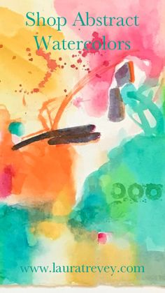 Shop original watercolor paintings for sale by Laura Trevey. Bright colors to dress up your walls! Modern fine art.