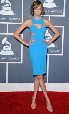 @roressclothes clothing ideas #women fashion Karlie Kloss: Blue Cutout Dress by Michael Kors