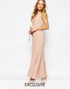 Fame and Partners | Fame and Partners Everland Maxi Dress with Fishtail at ASOS