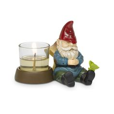 Gnorm - Napping Gnome Votive Holder. Was: $15 Now $4.75!! Order today! #PartyLite
