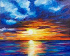Sunset PRINT by lovewithyourheART on Etsy, $30.00