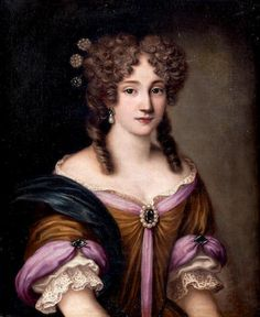 Jakob Ferdinand Voet (Antwerp, 1639 - - Portrait of a Lady, Half Length, in a Gold and Pink Dress 17th Century Fashion, 17th Century Art, Antique Clothing, Historical Clothing, Classic Paintings, Beautiful Paintings, Mode Renaissance, Baroque Painting, Antique Pictures