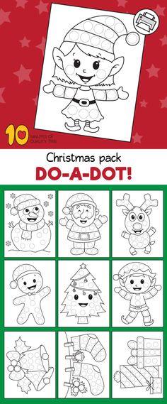 Do a Dot Printables for xmas Christmas Charts, Christmas Bingo, Christmas Activities For Kids, Holiday Crafts For Kids, Preschool Christmas, Xmas Crafts, Christmas Printables, Crafts To Do, Do A Dot