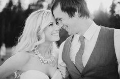 Happy black and white wedding portrait — ©RYAN FLYNN PHOTOGRAPHY - Seattle Wedding Photographer
