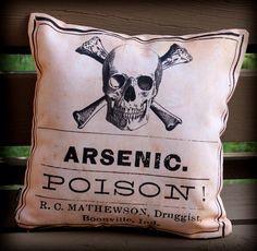 Creepy Halloween Labels Arsenic Poison Apothecary Label #halloween #labels #creepy www.loveitsomuch.com