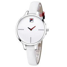 cc28d57d45c Fila 2017 Top Marca de Luxo Moda Casual Mulheres Relógios de Quartzo com  Pulseira de Couro relógio de Pulso Relógio de Alta Qualidade À Prova D   Água 38-780 ...