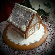 Snowflake cottage  by Teri Pringle Wood