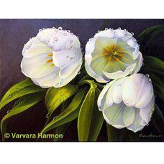 """""""White Tulips"""" by Varvara Harmon"""