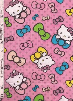 Hello Kitty Neon Expressions Fabric Collection SOLD SEPARATELY PRICE REDUCED Hello Kitty Backgrounds, Little Puppies, 9 And 10, June, Neon, Fabric, Pattern, Collection, Art