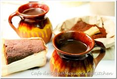 Cafe De Olla recipe (I would add 2 cinnamon  sticks instead of 1/2 per other recipes)