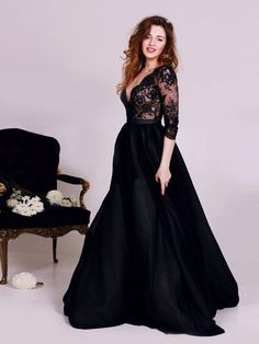 "Black Dress, 2017 Long Prom Dress Long Sleeve A-line Prom Dress/Evening Dress MK582 Color name:https://www.annapromdress.com/pages/color-chart If the color box is not in your requirement, please check the Color name.When you choose color name, please leave us a message that which color that you want. Please note that all of the dresses are tailored from scratch including the standard sized dresses.How to measure:https://www.annapromdress.com/pages/measuring-guide When you choose ""Customer…"