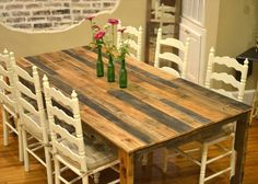Pinterest Do It Yourself | Pallet Kitchen Table for Your Dining Area | Wooden Pallet Furniture
