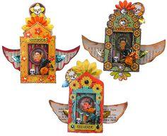 Resultado de imagem para matchbox shrines how to make Matchbox Crafts, Matchbox Art, Mexican Crafts, Mexican Folk Art, Mexican Skulls, Memento Mori, Day Of The Dead Art, Altered Art, Altered Tins