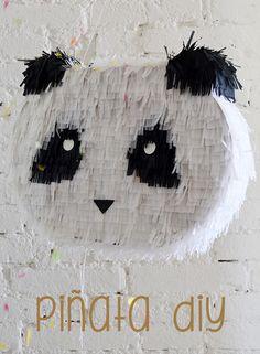 PINATA DIY Panda Birthday Party, Birthday Pinata, Panda Party, Hello Kitty Birthday, Bear Party, Mini Pinatas, Pinatas Diy, Homemade Pinata, Diy Party Decorations