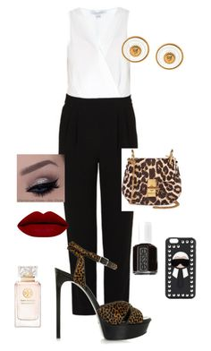 """Untitled #227"" by mariapangal on Polyvore featuring Diane Von Furstenberg, Chloé, Chanel, Yves Saint Laurent, Essie, Tory Burch and Fendi"