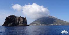 Sicily, Aeolian Islands, sailing around Strombolicchio, Stromboli
