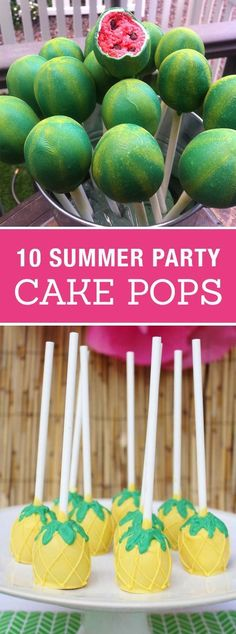 10 Creative Cake Pops for a Summer Party! Cute birthday or pool party desserts. From beach balls and sharks to lady bugs and crabs. 10 cute fun food ideas for cake pops! (Summer Bake)