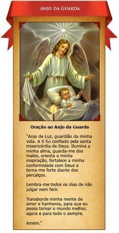 ✿⊱♥ Oração ao Santo Anjo da Guarda                                                                                                                                                      Mais Keep The Faith, Power Of Prayer, Quotes About God, Family Love, Catholic, Namaste, Prayers, Spirituality, Messages