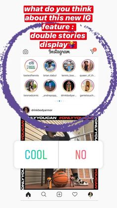 Instagram is testing new feature:double story display What so you think?