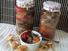 Hellena ...din bucataria mea...: Salata de ghebe - pentru iarna Canning Pickles, Oatmeal, Stuffed Peppers, Vegetables, Breakfast, Food, Sauces, Canning, Salads