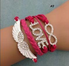 Angel Wing/Love/Infinity Affirmation Bracelet