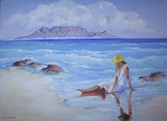 Beach Girl with Mountain Table: x x in the Paintings category was listed for on 10 Nov at by Louis Pretorius in Cape Town Painting Words, Love Painting, Oil Painting On Canvas, Art In The Park, Table Mountain, Mountain Paintings, Landscape Paintings, Landscapes, Selling Art