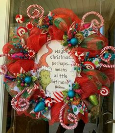 Grinch Christmas Decorations, Grinch Christmas Party, Christmas Party Themes, Christmas Baby, Holiday Wreaths, All Things Christmas, Christmas Holidays, Christmas Crafts, Christmas Ideas