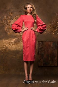 """Designer womens dresses Extravagant sheath dress. Spring-summer #dress with super stylish design from my collection  """"Smell of summer""""  stylish and trendy women's casual dress. Bodycon Midi dress w... #dresses #clothing #fashion #eveningdress"""