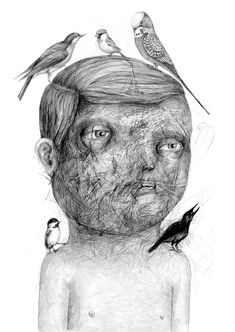 DRAWINGS BY STEFAN ZSAITSITS  Drawing collage