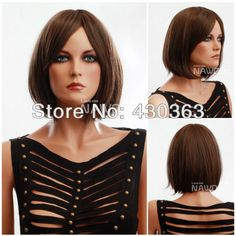 12.6 inch Wig for Women Hot Bob Wig Heat Resistant Wig Natural Straight Wig