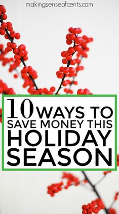 The holidays can be expensive, but they don't have to be if you are mindful of how you spend and find holiday savings. Let's save money this holiday season!