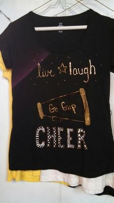 Hand Painted Live Laugh Cheer Shirt by CherishEveryMomentSF, $14.99