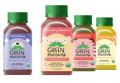 We have two rules when it comes to getting kids to eat healthier: make it fun, make it taste good. Our organic fruit & veggie juice smoothies pack a powerful nutritional punch in flavors kids love. Kids Packaging, Fruit Packaging, Food Packaging Design, Beverage Packaging, Bottle Packaging, Product Packaging, Bottle Labels, Branding Design, How To Make Smoothies