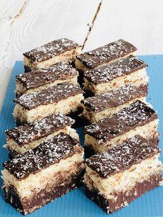 Ciocolată de casă cu cocos, prăjitură cu ciocolată Bounty - Chef Nicolaie Tomescu Romanian Desserts, Romanian Food, Romanian Recipes, Chocolate, Food Presentation, Bakery, Sweet Treats, Deserts, Food And Drink