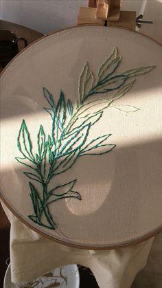 embroidery art illustration  threads stitch pattern fabrics textile