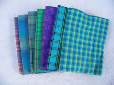 Bundle Fat Quarters Shades of Blue Plaids by GabbysQuiltSupplies, #crafts,sewing,quilting,supplies,fabric