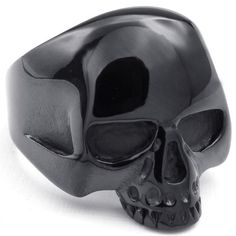 Blacked out skull ring