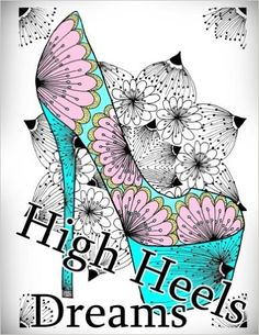 20 Best Shoes Coloring Books Images On Pinterest