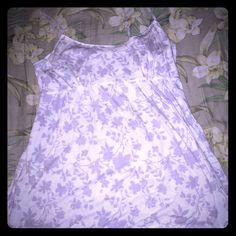AEO Babydoll Tank Super cute babydoll tank, cream with grey floral pattern, good condition. American Eagle Outfitters Tops Tank Tops