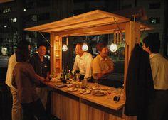 スギダラ家奮闘記/第2回 Ramen Restaurant, Restaurant Design, Food Cart Design, Bike Food, Mobile Cafe, Food Kiosk, Food Truck, Buffet Set, Cafe Concept