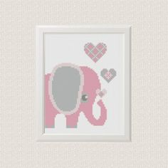 Elephant cross stitch pattern Baby nursery by AnimalsCrossStitch