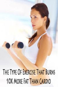 Learn what type of exercise burns 10 times more fat than cardio.