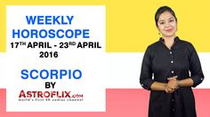 #Scorpio - #Weekly #Horoscope for 17th to 23rd #April 2016 #astrology #Zodiac