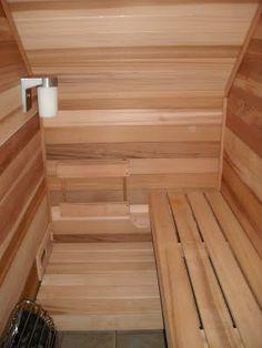 Under stairs: sauna