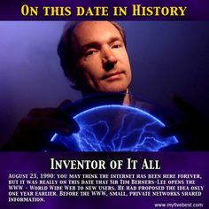 The internet wasn't discovered by Al Gore, but the World Wide Web was this guy's idea! http://www.myfivebest.com