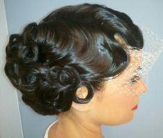 Finger waves bridal