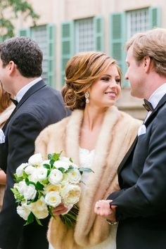 Rustic Glam Winter Wedding. Our gorgeous bride Kathleen in @Augusta Jones. Photographed by @Dana Cubbage Weddings.