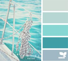 11 peaceful paint palettes inspired by the sea.                                                       Guest bathroom?